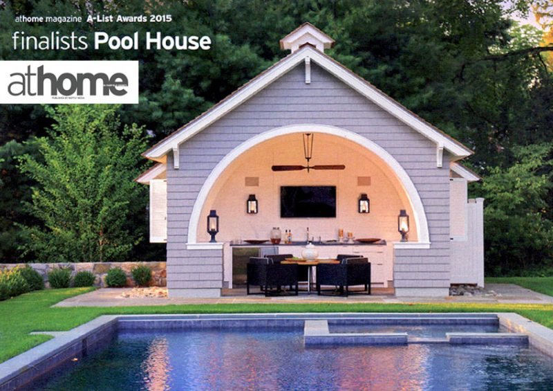 L L Builders Project Featured In At Home Magazine A List Pool House Design And Construction