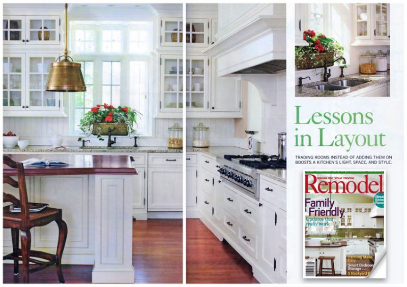 Lessons In Layout Feature Article In Better Homes And Garden Remodel Magazine 2009